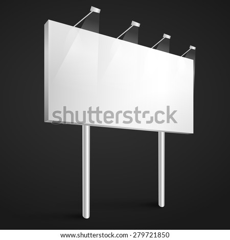 Vector billboard blank template, mockup  - stock vector