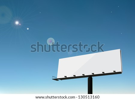 Vector Billboard eps10 - stock vector