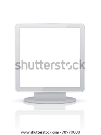 Vector billboard isolated on white. Eps10 - stock vector