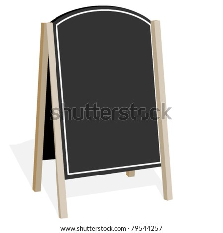 Vector billboard on a white background - stock vector