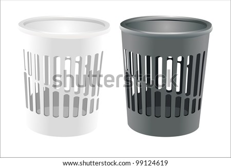 Vector bin set isolated on white
