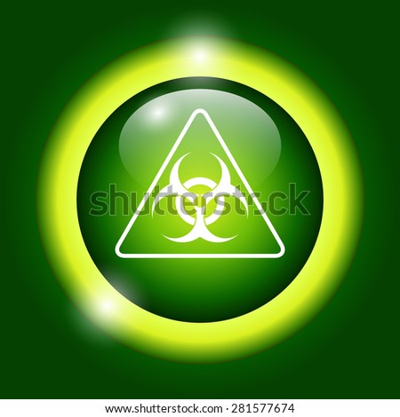 Vector biohazard sign or icon, flat Illustration  - stock vector