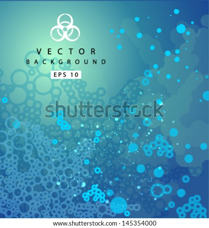 Vector_biomass_background_blue - stock vector