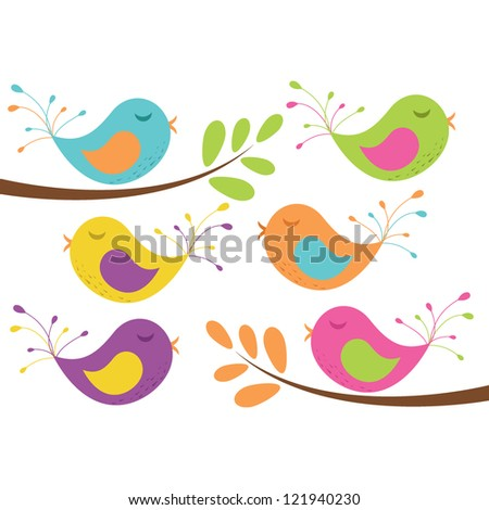 Vector Birds and Branches