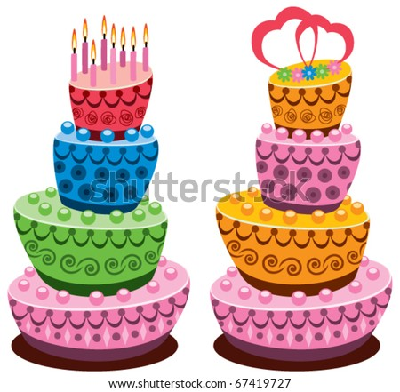 Tall cake Stock Photos, Images, & Pictures Shutterstock