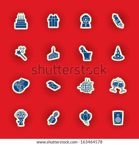 vector birthday icon set