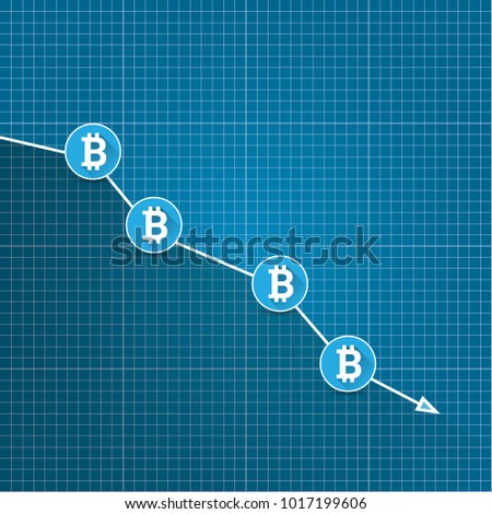 Vector bitcoin market crash graph on vector de stock1017199606 vector bitcoin market crash graph on blueprint background bitcoin hype concept vector illusrtation with blank malvernweather Gallery