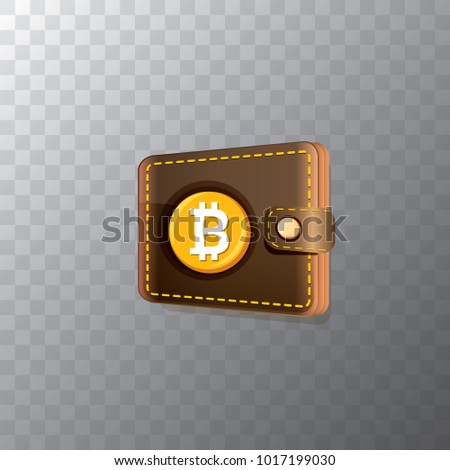 Vector bitcoin wallet golden bit coins stock vector 1017199030 vector bitcoin wallet with golden bit coins isolated on transparent background vector bitcoin icon or ccuart Choice Image
