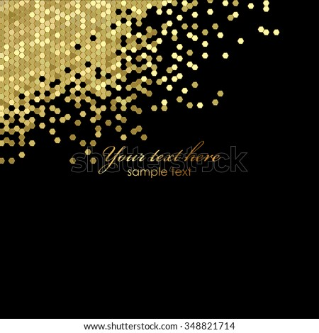 Vector black and gold luxury background - stock vector