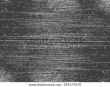 Vector black and white background, grunge texture with elements of destruction and scratches . - stock vector