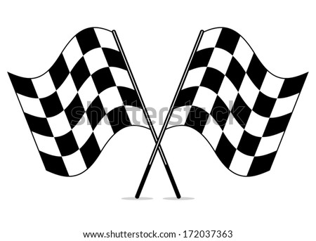 Vector Black White Crossed Racing Checkered Stock Vector 172037363 ...