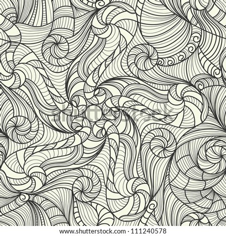 vector black and white drawing texture - stock vector