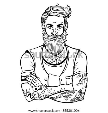 Color Page Of A Lumberjack Beard