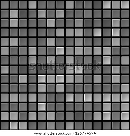 Vector black and white tile seamless abstract texture