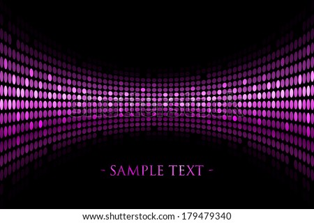 Vector black background with purple lights with space for your text - stock vector
