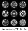 vector black ball icons - stock photo