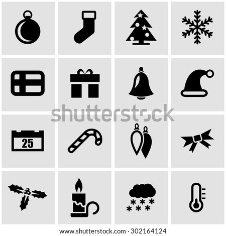 Vector black christmas icon set. Christmas Icon Object, Christmas Icon Picture, Christmas Icon Image, Christmas Icon Graphic, Christmas Icon JPG, Christmas Icon EPS, Christmas Icon AI - stock vector - stock vector