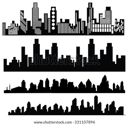 Vector Black City Icons Set On Stock Vector 331107896 ...