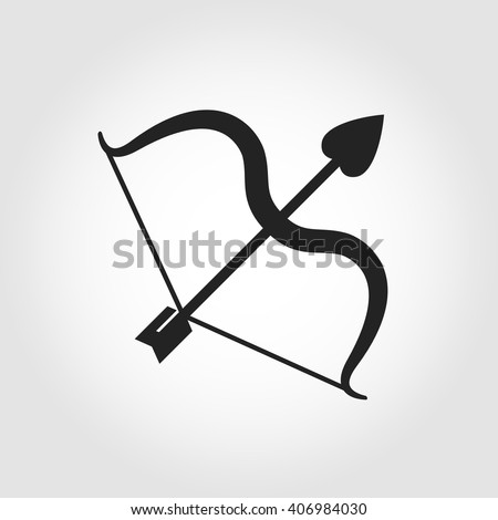 Vector black cupid bow icon on grey background.