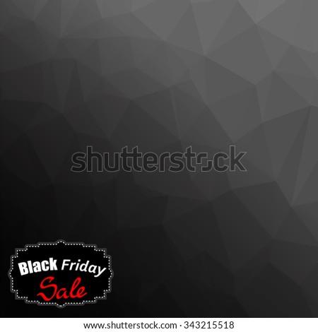 Vector Black Friday Sticker Isolated on Dark Mosaic Background - stock vector