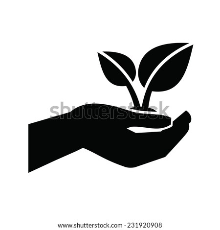 vector black Growth icon on white background  - stock vector