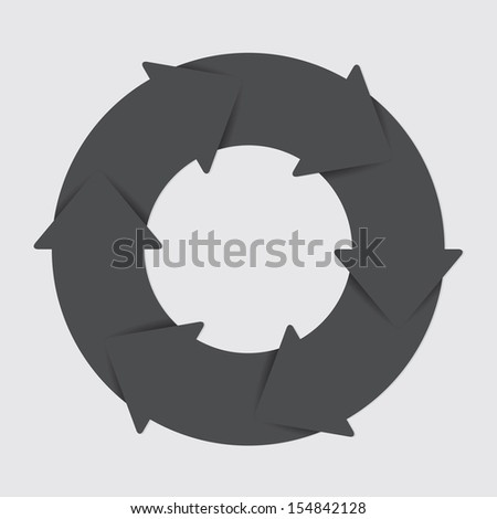 Vector black life cycle diagram. 6 Steps. - stock vector