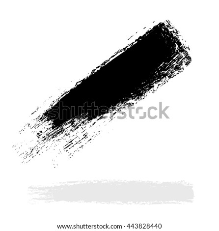vector black, line, grunge brush strokes ink paint isolated on white background