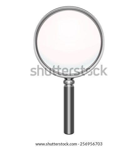 Vector black magnifier