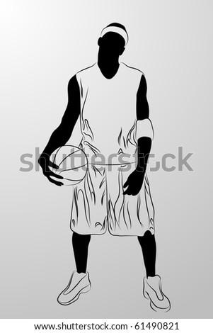 Vector black man on white background (illustration) - stock vector