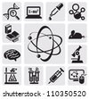 vector black science set on gray background - stock photo