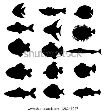 Fish Silhouette Stock ...