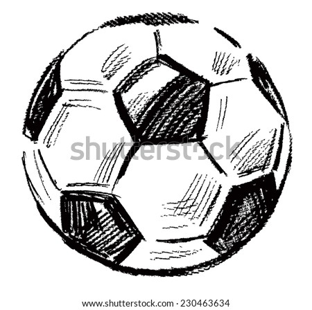 vector black soccer ball icon on white - stock vector