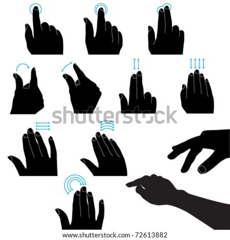 Vector black touchscreen - stock vector
