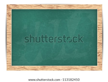 Vector blackboard for your message and line