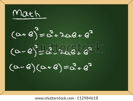 Vector blackboard with formuls - stock vector