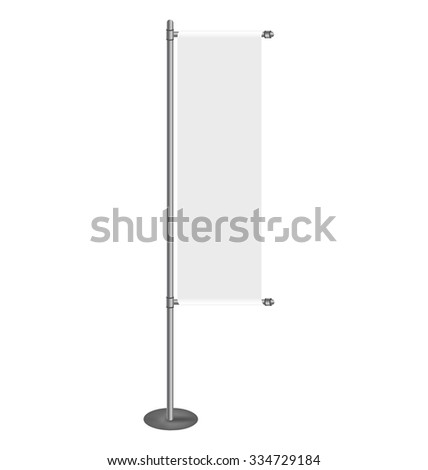 Vector blank banner flag for designers - stock vector