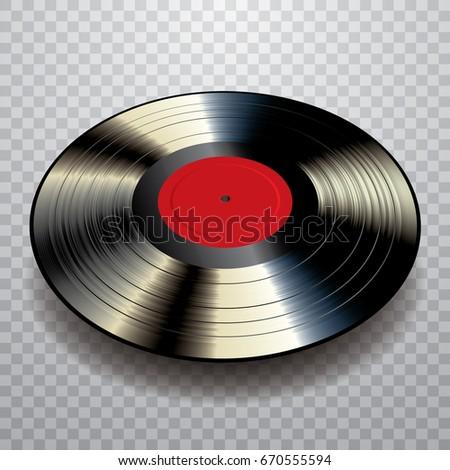 Vector Realistic Lp Vinyl Record Blank Stock Vector