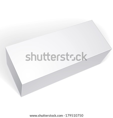 Vector blank box isolated on white background, template for your package design, put your image over the pack in multiply mode, illustration eps 8. - stock vector