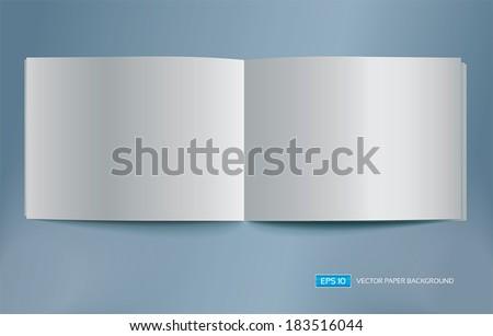 Vector blank brochure spread. - stock vector