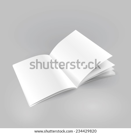 Vector blank brochure spread. - stock vector