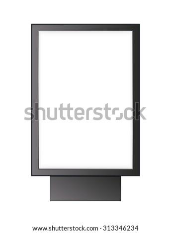 Vector blank citylight lightbox - stock vector