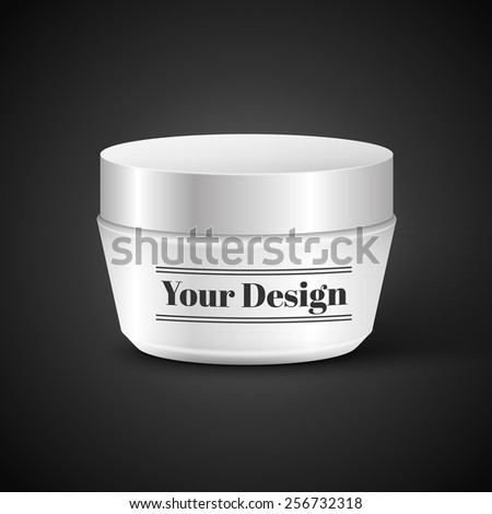 Vector Blank Cosmetic Container for Cream or Gel, excellent vector illustration, EPS 10 - stock vector