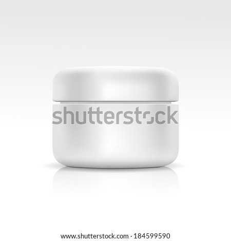 Vector Blank Cosmetic Container for Cream, Powder or Gel - stock vector