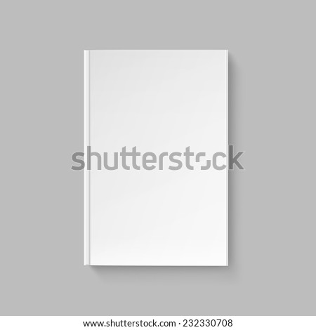 Vector Blank Cover for Book or Magazine Isolated Template