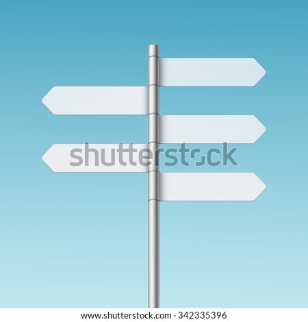 vector blank direction signpost sign arrow stock vector 342335396
