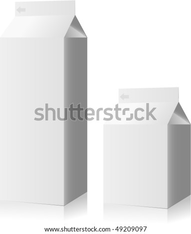vector blank drink packs collection - milk - stock vector