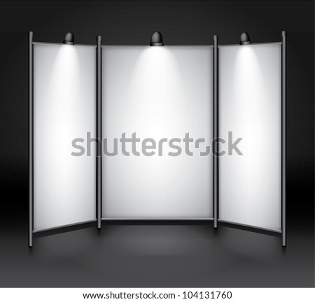 Vector blank exhibition,show booth - stock vector