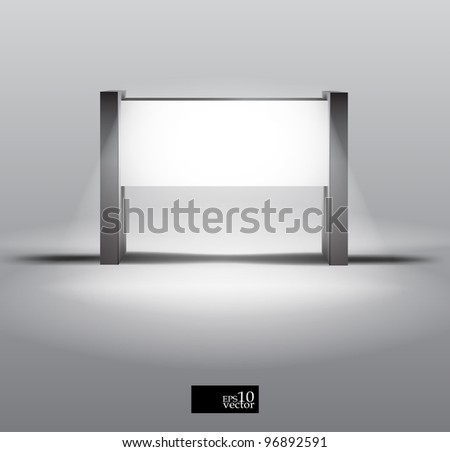 Vector blank light box display - stock vector