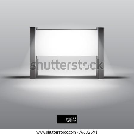 Vector blank light box display - stock vector