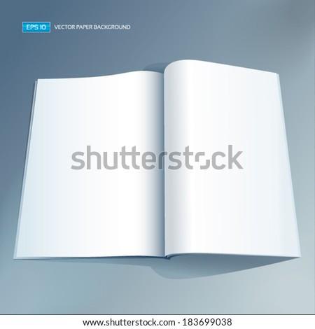 Vector blank magazine spread. - stock vector